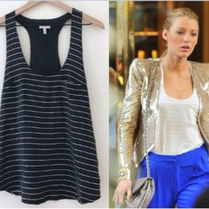 JOIE Saunders Metallic Stripe Tank on Blake Lively